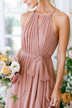 Bridesmaid A Line Dresses, Blush Pink Bridesmaids, Blush Dresses, Bridesmaid Ideas, Wedding Bridesmaids, Wedding Dresses, Pretty Dresses, Formal Dresses, Summer Wedding Attire