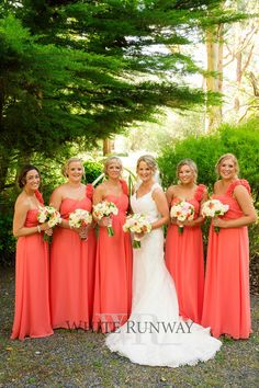 Our gorgeous couple Melissa and Shane tied the knot in Melbourne. Melissa chose the Anabel Dress by Jadore in custom colour Coral. #whiterunway