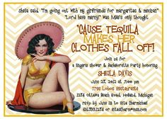 Vintage Pin Up Girl Invitation   style 2  by WoodlarkDesigns, $12.00