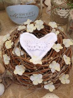 A little Wreath with Lavender Heart