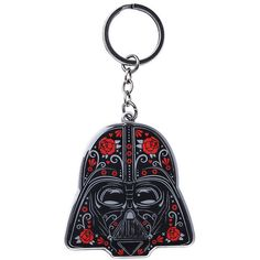Loungefly Star Wars Day Of The Dead Darth Vader Key Chain Hot Topic ($6.50) ❤ liked on Polyvore featuring accessories, loungefly and fob key chain