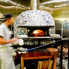 America's Coolest Pizza Ovens on Food & Wine AT san fran, chicago, philly… Pizzeria Design, Restaurant Design, Restaurant Ideas, Wood Oven, Wood Fired Oven, Wood Fired Pizza, Four A Pizza, Good Pizza, Pizza Oven Outdoor