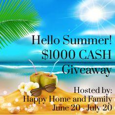 $1,000 Summer Cash Giveaway