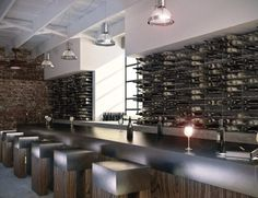 STACT modular wine wall for bars