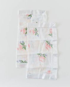 Cotton Security Blankets - Watercolor Rose