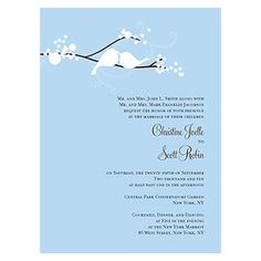 Personalized Love Bird Wedding Invitations