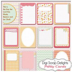Pretty Pocket Journal Cards Project Life by DigiScrapDelights