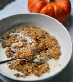 * Baked Pumpkin Steel Cut Oatmeal... butter, GF steel cut oatmeal, pumpkin or squash or yam puree, (coconut palm) brown sugar, cinnamon, ginger, cloves, nutmeg, milk of choice, vanilla; pre-cook evening before then bake in AM or crockpot overnight; add/replace pumpkin w/thin-sliced apples, rinsed quinoa, amaranth; peanut butter, coconut oil &/or flakes, toasted pecans/walnuts, fresh/dried fruit...