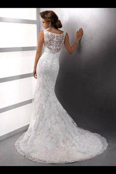 Lace fish tail wedding dress