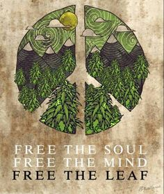 ☮ American Hippie 4:20 Weed ☮ Free the Leaf