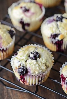 Blueberry Lime Muffins - they only take 30 minutes!