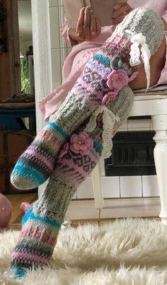 Thigh High Socks, Thigh Highs, Knitting Ideas, Knitting Socks, Boho Outfits, Fashion Outfits, Womens Fashion, Boho Clothing, Leg Warmers
