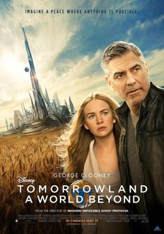 Tomorrowland : a world beyond / directed by Brad Bird / starring George Clooney, Britt Robertson, Hugh Laurie 2015 Movies, Hd Movies, Disney Movies, Movies To Watch, Movies Online, Movies And Tv Shows, Film 2015, Tomorrow Land, Film Movie