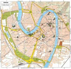 cool Map Of Verona Italy