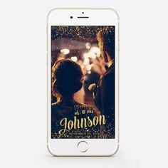 Custom Snapchat Sparkle Gold Wedding by JessicaMichaelPrints