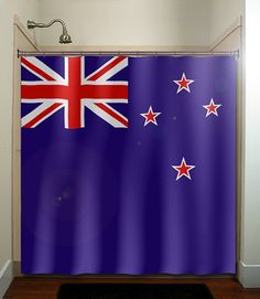 New Zealand flag shower curtain