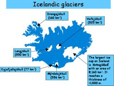 Icelandic glaciers and climate - Iceland is a glaciated country. Approximately 11% of Iceland's total area of roughly 100.000 km2 is covered by glaciers (Figure 1). The largest ice caps in Iceland are located in the southern and central highlands.