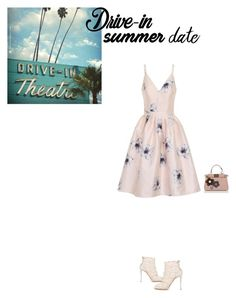 """""""Vintage Drive-In Date Night Look"""" by axel-lewi on Polyvore featuring Dolce&Gabbana, Chi Chi, Fendi, vintage, DateNight, drivein and summerdate"""