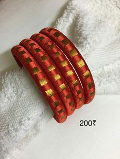 To order WhatsApp 9442146383 Silk Thread Bangles Design, Silk Bangles, Bridal Bangles, Thread Jewellery, Indian Bangles, Beaded Necklace Patterns, Jewelry Patterns, Quilling Earrings, Bangles Making