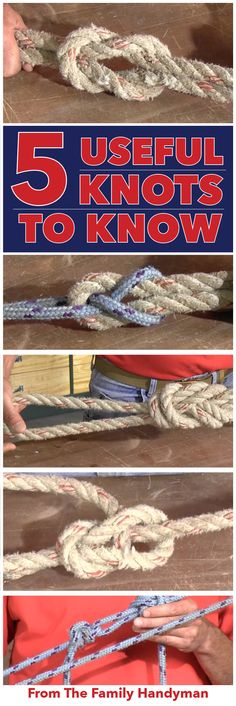 We'll show you how to become a master maker of five different knots. Including the bowline, figure 8, square knot, sheet bend and the double half hitches. Read on to learn how!