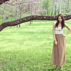 sweet spring :) it's all about pastels and maxi skirts