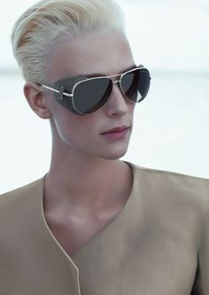 Armani - aviator sunglasses with leather side shields <3<3<3
