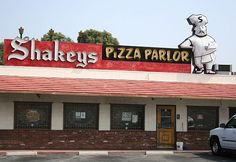 shakey's pizza. Spent many a Friday night here with my family in the San Fernando Valley. There was a pipe organ, I believe. Private lil' joke about Shakey's...lol
