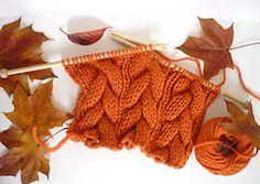 Ravelry: Halloween Pumpkin Orange Cable Scarf pattern by Francesca at Watkins & George