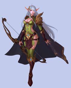 Pin by samantha harmon on artist reference in 2019 дизайн персонажей, эльфы, Fantasy Female Warrior, Warrior Girl, Fantasy Armor, Anime Fantasy, Fantasy Girl, Dnd Characters, Fantasy Characters, Female Characters, Female Elf