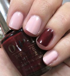 OPI Sweet Heart & Got the Blues for Red Nail Polish - Valentine's Day mani ideas