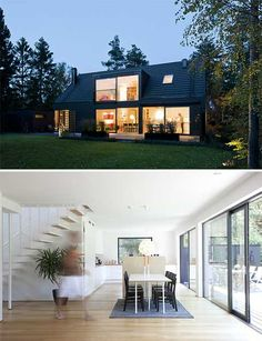Located south of Malmo, Sweden, on a seaside summer resort, this lovely summer house belongs to a young couple. Modern, yet suitable for a flexible family life, it features a traditional 1.5 story structure, which is very common in the south of Sweden. A traditional saddle roof combines beautifully with a calm, contemporary design. Large …