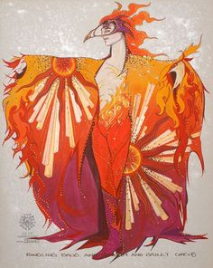 and Barnum & Bailey Circus Gregg Barnes, Ringling Bros. and Barnum & Bailey Circus Inspiration Art, Art Inspo, Phoenix Costume, Costume Design Sketch, Ballet Russe, Bird Costume, Theatre Costumes, Ballet Costumes, Character Costumes