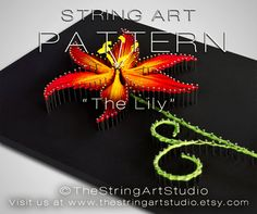 String art pattern The Lily  Flower string by TheStringArtStudio                                                                                                                                                                                 More
