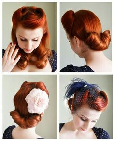 vintage victory roll pinup hair style