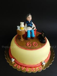 Watching soccer on tv!  Cake by mamadu