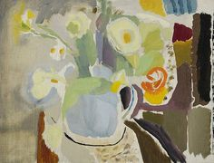 Ivon Hitchens, Flowers in a Blue Jug