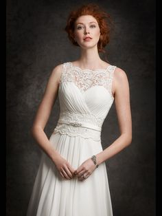 Style * GA2242 * » Bridal Gowns, Wedding Dresses » Gallery 2015 Collection » by Ella Rosa (Private Label By G) » Available Colours : Ivory/Silver, White/Silver ~ Shown Band with Beaded details at waist (close up)