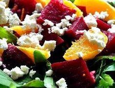 COMIDINHAS FÁCEIS E SAUDÁVEIS: Salada de beterraba, laranja e ricota