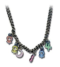 collar sailor moon planetaria símbolo charms ge8164
