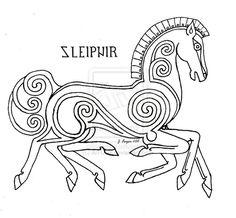 Sleipnir pattern by Ari-Usni.deviantart.com on @deviantART