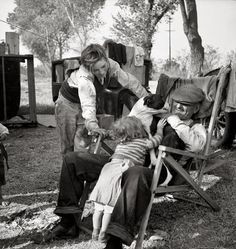 1936. Arvin Migratory farm worker's camp in Kern County, Calif.