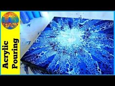 How to do Acrylic Pour Swipes with Black (multi and fire) with Sandra Lett - YouTube