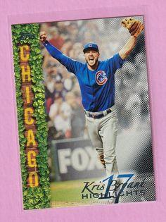 2018 Topps Kris Bryant Highlights Black KB-7 #ChicagoCubs Cubs Cards, Chicago Cubs, Highlights, Baseball Cards, Ebay, Black, Black People, Luminizer, Hair Highlights