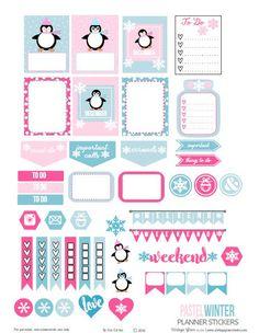 Etiquetas Pastel do planejador do inverno de <br> Não Perca!  Printable livre para o uso pessoal somente.