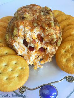 My Cheddar Bacon Cheeseball is a crowd pleaser, and it turns our perfectly every time. It's super easy to make ahead before the big game! Tailgating Recipes, Tailgate Food, Finger Food Appetizers, Finger Foods, Good Food, Yummy Food, Yummy Treats, Bakery Recipes, Sweets Recipes