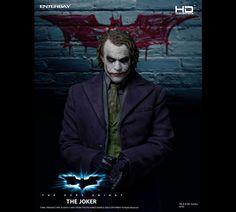 Enterbay The Dark Knight: Joker Scale Action Figure Batman Comic Books, Batman Comics, Comic Book Heroes, Dark Knight Returns, Batman The Dark Knight, Batman Dark, Im Batman, We Movie, Movie Collection