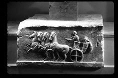 chariot  Base for a dedication, end of the 4th or beginning of the 3rd century BC.   Taken by the Acropolis Museum. Athens, Greece