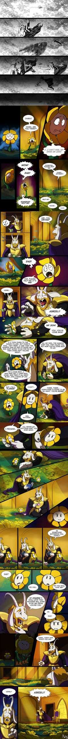 Undertale - Flowey Origins pt 1 Source: http://lynxgriffin.tumblr.com/post/139248485408/to-be-continued-i-guess-i-just-cant-stay-away: