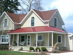 What Color To Paint House With Red Roof Red Roof House Best Exterior Paint Images On Homes Exterior Colors And Facades Red Roof House Red Roof House House Paint Color For Red Tile Roof