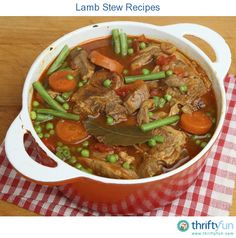 This page contains lamb stew recipes. Lamb stews are a springtime tradition in many households.